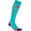 cep Run Socks - Chaussettes course à pied Femme - rose/turquoise